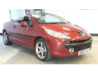 2008 57 PEUGEOT 207 1.6 SPORT COUPE CABRIOLET HDI 108 BHP DIESEL*2 YEARS WARRANTY*FINANCE