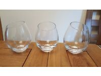 Wilkinson Vase Wide Oblong Clear x3 will sell individually