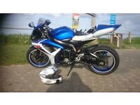 suzuki gsxr 600 k7, 1 previous owner, full service history, hpi checked certificate, new tyres