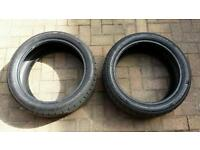 2x Continental Runflat Tyres 205/45/17 for MINI. 6mm tread (8mm is new)