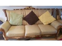 3+3 SEATER AND 2 BIG LEATHER ARMCHAIRS