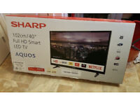 Sharp 40 Inch Full HD LED Smart TV + Freeview Play (LC-40CFG3021KF) -Brand New & Boxed with warranty