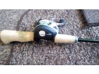 John wilson rovex six shooter one piece rod with multiplyer and lure selection £65