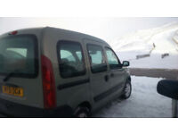 Microcamper - Renault Kangoo 4 X 4 (2002) - fitted with Amdro sleeping pod. MOT til November