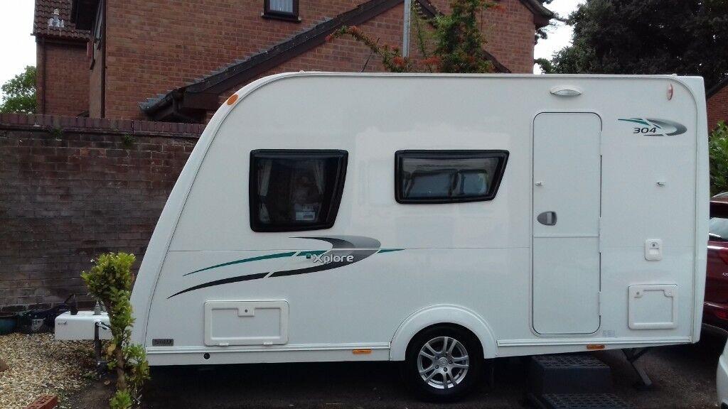 343d1d10fe72dd ELDDIS XPLORE 304 SE lightweight compact 4 berth caravan 2014 ...