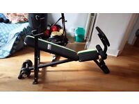 Weight Bench with removable Bicep Curl Bench £39.00. As New, total bargain. Must collect.