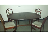 Dining table and 4 chairs-Extendable
