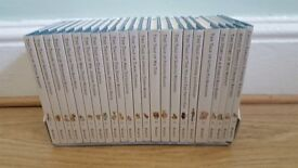 Beatrix Potter story books set of 23 books in display case Peter Rabbit