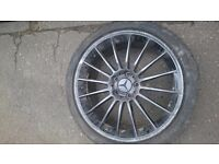 """4 x 18"""" alloy wheels with tyres"""
