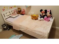 Children's/Kid's/Toddler Bedroom Set - incl Ikea bed, mattress, curtains, covers, lamp, rug, clock