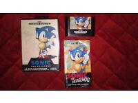 Sega Mega Drive Sonic The Hedgehog Game