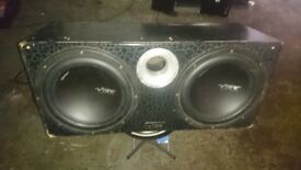 12inch subs, vibe 1200watts