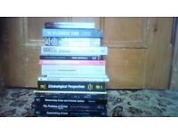 Open University course books on crime and other crime related books 17 items in total