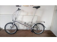 """HOLDSWORTH folding commuter bicycle 20"""" wheels, like new, used once, great condition, £450 ONO"""