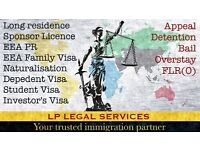 Immigration Lawyer. Visa service - Tier 2, Tier 4,Tier 5,ILR, EEA Family Visa, Bail, Appeal, FLR(O).