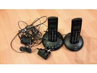 Bt Graphite 2500 Twin Duo Cordless Landline Telephone - Good condition