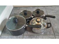 4 x kitchen pots/pans in vgc
