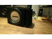 Crunch ground pounder subwoofer 1600w and inphase amplifier 2400w ex display