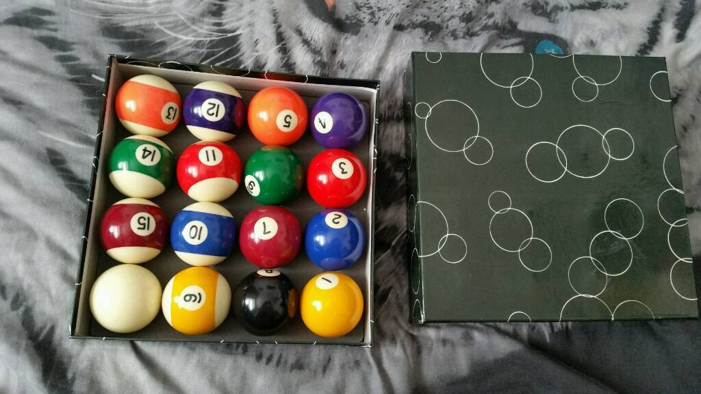 Pool ball balls table sports game in box