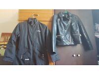 Leather jacket and Rain coat