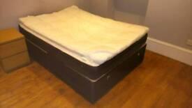 Double bed (divan and memory foam mattress)