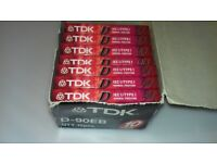 TDK D90 Normal Position IECI/Type I New Sealed Cassette Audio Tapes 90 mins