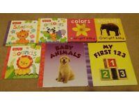 7 baby & toddler learning hardback books