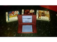 Nintendo DS XL - 3 Games & Charger Wire