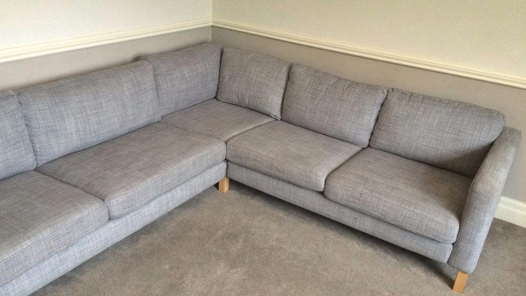 Ikea Karlstad 3 2 Corner Sofa Isunda Grey For Sale