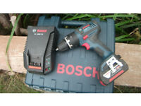 Professional Bosch 18v Combi Drill With x1 4AH Battery, Charge and Case! MINT! Cost £169.99!