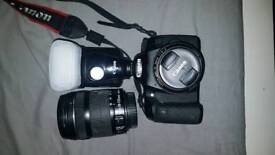 Canon 70D with 50mm and 18-135 lens with Canon Flash gun