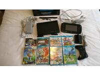 Wii U Console Plus Spare Pro Controller & 8 Games