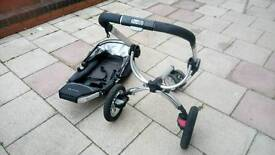 Quinny off road pram push chair, front rear face fold down