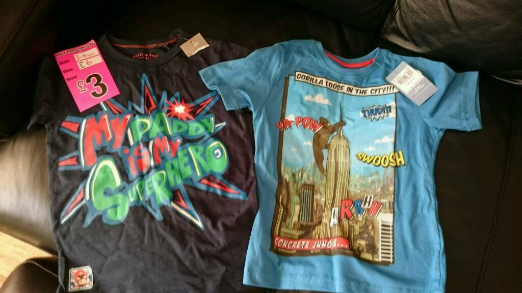 2 Brand new with tags boys age 3 4 tshirts from Next and Tuin Norwich, NorfolkGumtree - 2 Brand new tshirts in age 3 4. One from Next, one from Tu at Sainsburys