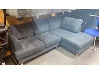 Grey fabric compact corner suite