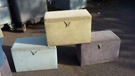 Ottoman blanket boxes, Dunelm Monaco