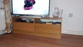TV cupboard solid oak top