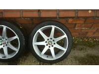 Bk racing alloys 16 inch with good tyres