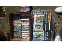 job lot of 150 dvds ideal car boot