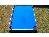 Blue Pool Table + Free Supapro Billiard Balls - Used