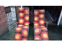 2 Reclining Garden Chairs For Sale