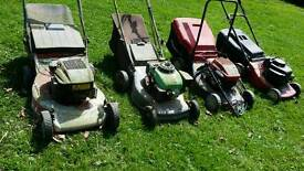 Self propelled lawnmowers