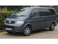 2007 VW TRANSPORTER 9 SEATER GREY NOT MODIFIED OR A SHOWCAR.... CHEAP BARGAIN FAMILY CAR