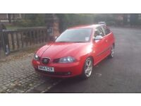 SEAT IBIZA FR 1.9 TDI 130 BHP ONLY 82400 MILES FULL MAIN DEALER SERVICE HISTORY CAM BELT CHANGED