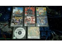 PS1 Playstation 1 games bundle
