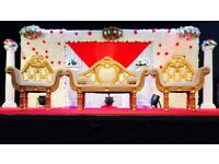 Asian wedding stage hire