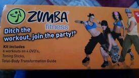 Zumba fitness kit plus DVDs