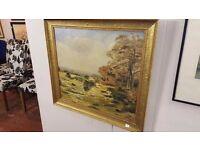 K. Lamb Gold-framed Landscape