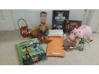 """TOY STORY BUNDLE inc 15"""" Woody Doll, DVD, CD, Hamm Money Box, and more"""