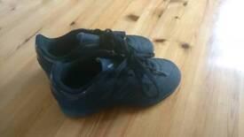 Kids adidas trainers, black, uk11.